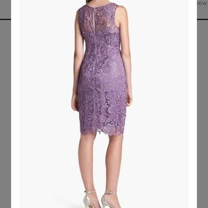 Adrianna Papell Floral Lace Sheath Dress 2P